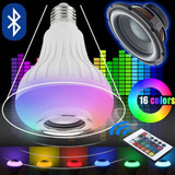 Foco Parlante Bluetooth Multicolor Led A Control Remoto