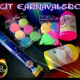 Kit Carnavalero Pinturas Y Polvos Neón