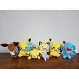 Peluches Pokemon Pikachu Eevee Meowth Tomy Varios Modelos