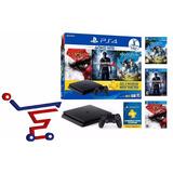 Ps4 Slim Consola  500gb Hits Bundle2 + 3 Juegos Fisicos