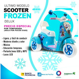 Bella Scooter Frozen Delux, Full Equipo. Parlantes,usb,mp3