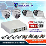 Kit 4 2 6 8 16 Camaras Seguridad Hikvision Hd 720p Dvr 1080p