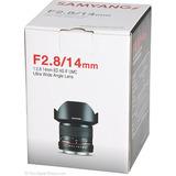Lente Samyang 14mm F/2.8 Superwide Para Nikon Nuevo