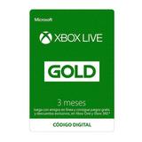 3 Meses Xbox Live Gold Para Xbox 360 / One Codigo