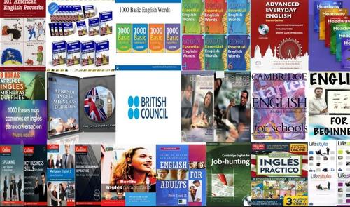 Colección 70 Cursos De Inglés + 90 Libros + Métodos De Estud