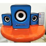 Parlantes Bluetooth Pc Laptop Sd Flash Usb Radio Fm Speaker