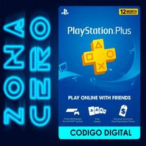 Playstation Plus12 Meses Suscripción Tarjeta Psn Online