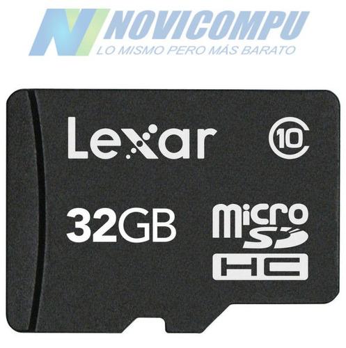 Micro Sd Lexar 32gb Clase 10