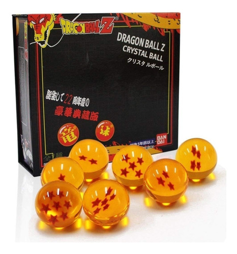 Set De 7 Esferas Del Dragon Diametro De 5,5cms