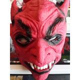 Mascara De Terror Halloween Diablo Disfraces Látex