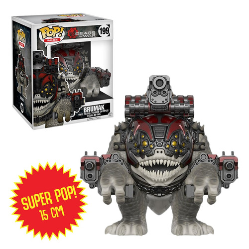 Super Funko Pop Gears Of War Brumak 15 Cm Original