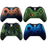 Xbox One Control Halo5-azul-verde Armed- Cafe +silicon
