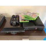 Xbox 360 Slim+mandos Y Cargador +kinetic+juegos