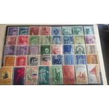 Lote 50 Estampillas Nuevas Usa Años 50s Mnh Mint