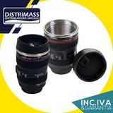 Taza Vaso En Forma De Lente De Camara Canon Nikon 2x1
