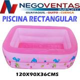 Piscina Inflable De Plastico Rectangular Varios Colores