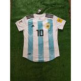 Camiseta Argentina Mundial Rusia 2018 Messi Dybala Sn