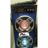 Parlante Karaoke Amplificado Bluetooh Recargable + Microfono