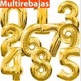 Grandes Globos Numeros  Metalizados A 1.75$