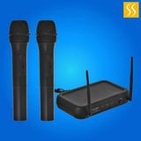 Microfono Italy Audio Inalambrico X 2 Vhf Dual Channel