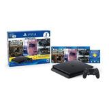 Play Station 4 1tb Ps4 1000gb +3 Juegos Slim +3 Meses Plus
