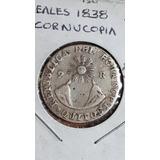 Monedatranspues, 2 Reales, 1838, Gj, Ecuador, Predecimal, Vf
