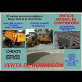 Venta Material De Construccion Alquiler Volqueta Hormigón