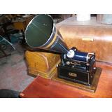Antiguo Fonográfo Edison Gem, 25 Ctms. Del Año 1.903