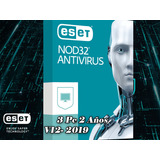 Eset Antivirus Nod32 | Licencia Para 3 Pcs, 2 Años