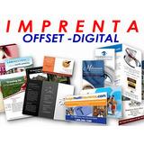 Imprenta Offset Digital Carpetas Volantes Tripticos Revistas