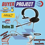 Headset Monoaural Jabra Evolve 20 Puerto Usb De Telefonos Ip