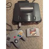 Nintendo 64 Con F Zero Palanca Cables