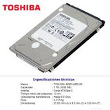Disco Duro Laptop Portatil 1tb 2.5  Toshiba Slim Nuevos