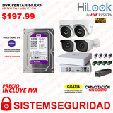 Kit 4 6 2  Camaras Seguridad Hd 720p 1080p Disco Cable Cctv