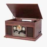 Victrola Clásica Radio Toca Discos Casette Bluetooth Cd Usb