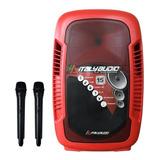 Caja Amplificada Italy Audio Pro 15 Rojo 20000w Recargable