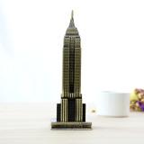 Adorno Figura Empire State Coleccion Metal 18cm