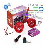 Alarma Para Motos Con Parlantes Bluetooh Usb Sd Radio Fm