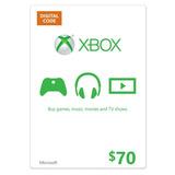 Tarjeta $70 Xbox Gift Card