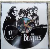 The Beatles Reloj En Disco De Vinilo