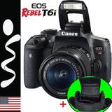 Camara Canon T6i Profesional Wifi Lente 18-55mm +16gb+maleta