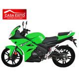 Motocicleta Loncin Jl150cr1 Verde / Negro 5 Velocidades