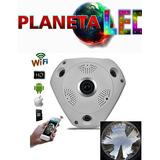 Camara Ip 360 Grados 3d Panoramica Full Hd Vigilancia Wifi