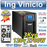 Ups Cdp On-line 120v Upo11-3 De 3000va 2700w 3kva 4 Tomas