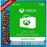 Xbox Live Gifcard $10 Codigo Digital Region Usa 10,20,25,30$