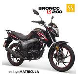 Moto Tundra Bronco Ls 200cc Luz Led Tablero Digital Alarma