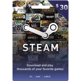Tarjeta De Recarga Para Steam $30 - Juegos De Pc