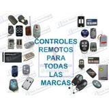 Control Remoto De Garage Puertas Automaticas (varias Marcas)