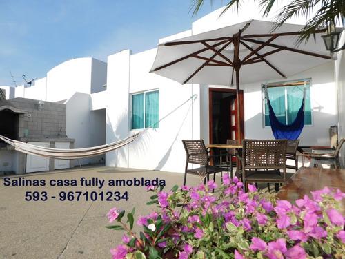 Salinas Alquiler Casa Playa Amoblada Equipada Wifi Piscinas