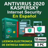 Antivirus Internet Security   3 Dispositivo   18 Meses  